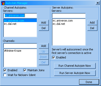 Autojoin Manager